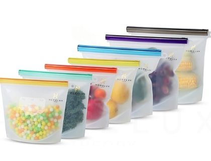 Home lux Theory Reusable Silicone Food Storage Bags