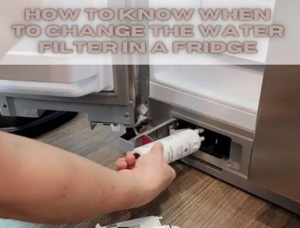 How to know when to change the water filter in a fridge