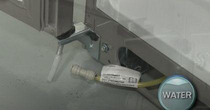 Releasing the water line freezer