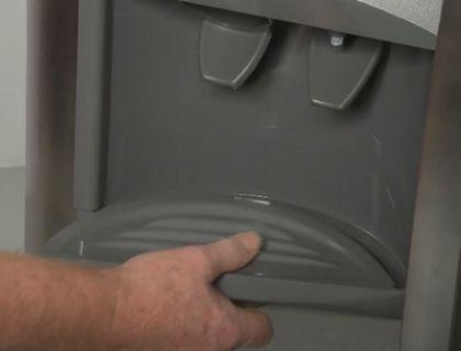 Remove the trip tray refrigerator line